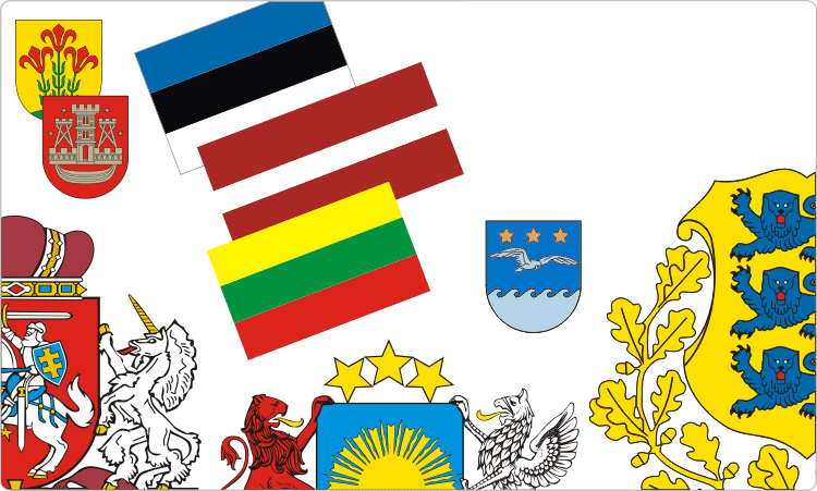 Heraldik Estland, Lettland und Litauen