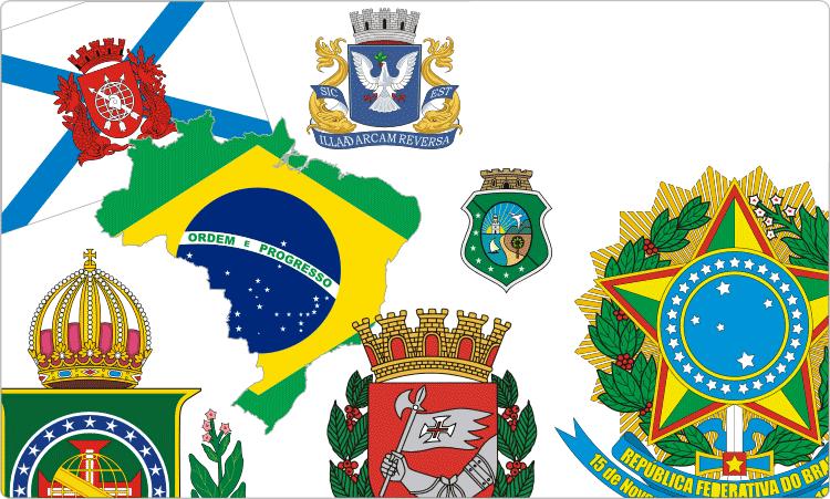 Brasilianische Flaggen und Wappen / Heraldik von Brasilien