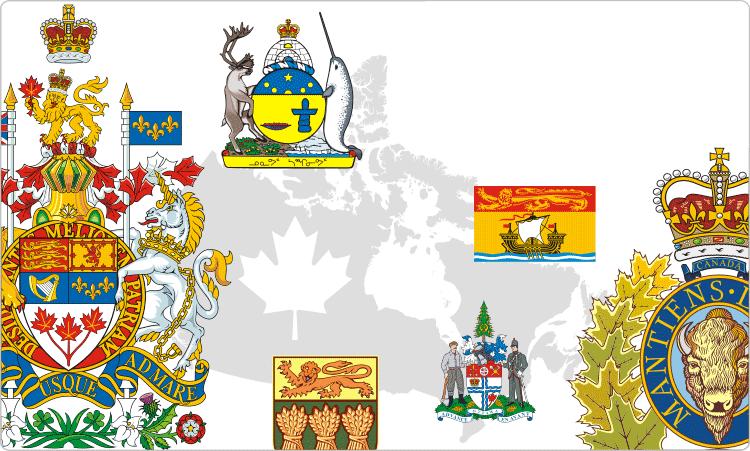 Kanadische Flaggen & Wappen / Heraldik von Kanada
