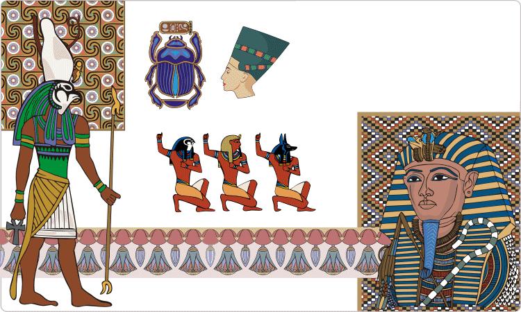 Alte ägyptische Designs