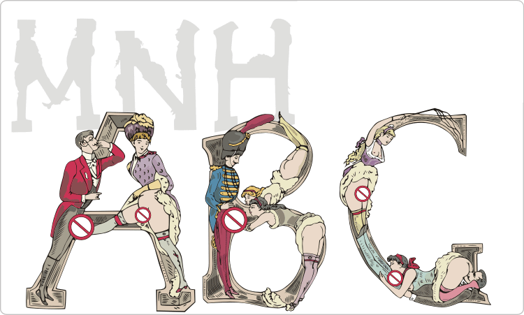 Erotische Alphabet Clipart