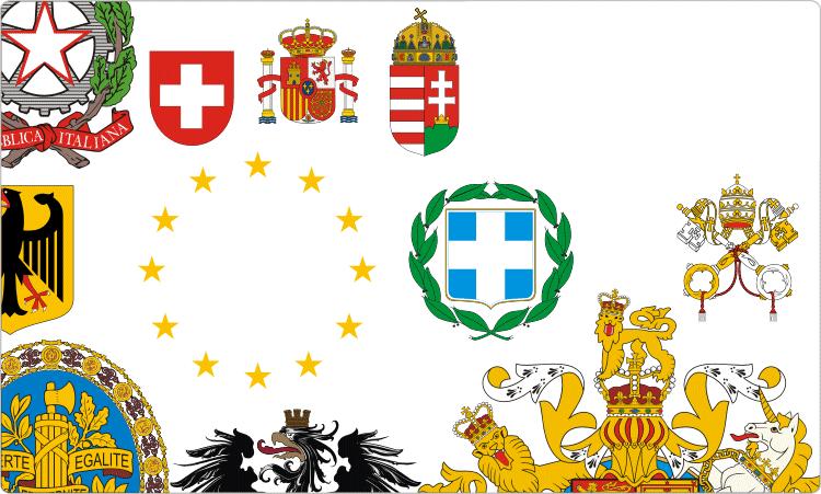 Flaggen und Wappen Europas