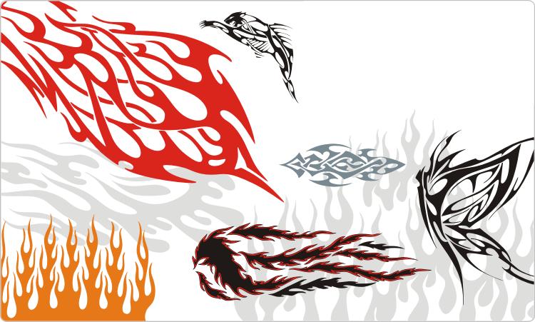 Einfache Tribal Flames