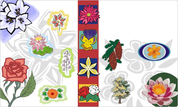 Blumen- und florale Vektor-Cliparts