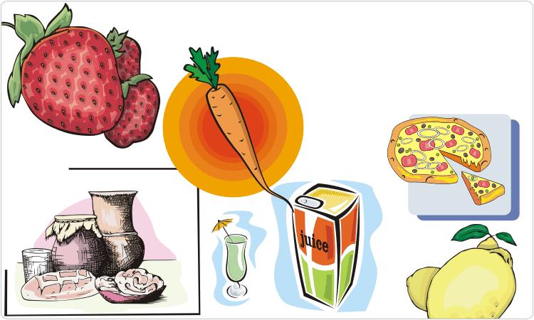 Essen Cliparts (Obst, Gemüse, Getränke, usw.)
