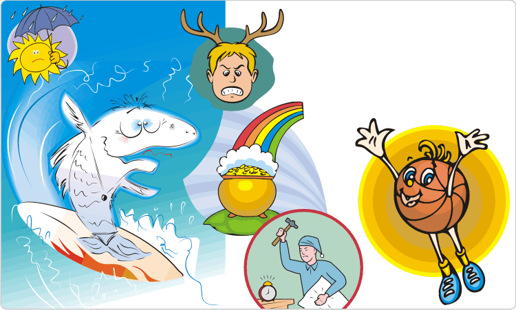 Cartoons für Kinder und Humorvoll Clipart