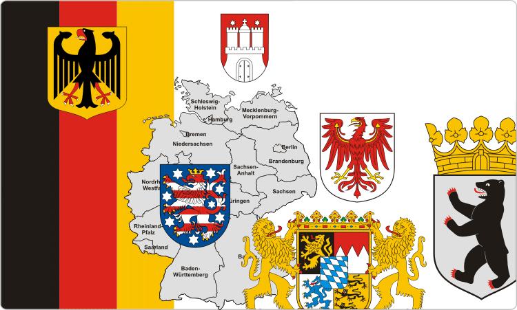 Deutsche, Österreichische und Schweizerische Wappen und Flaggen