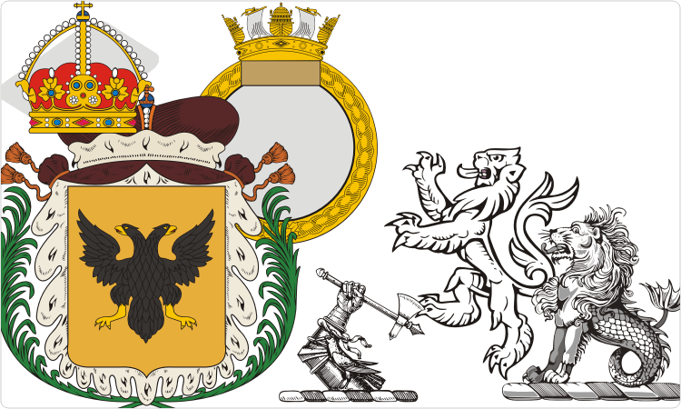 Heraldik Cliparts (Schilde, Kronen, Wappen, etc.)