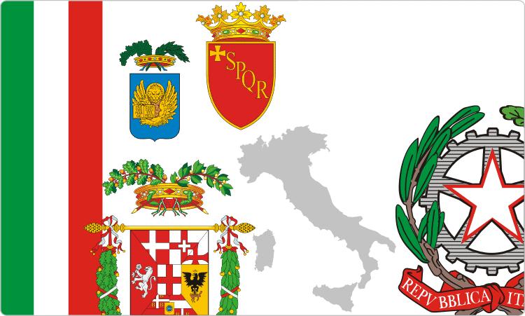 Wappenkunde von Italien / Italienisch Flaggen & Wappen