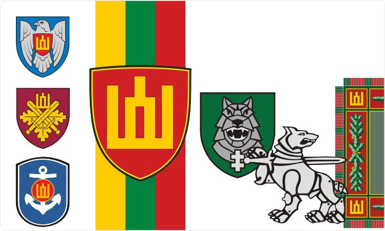 Litauische Militärinsignien