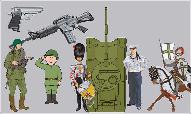 Militär-Cliparts