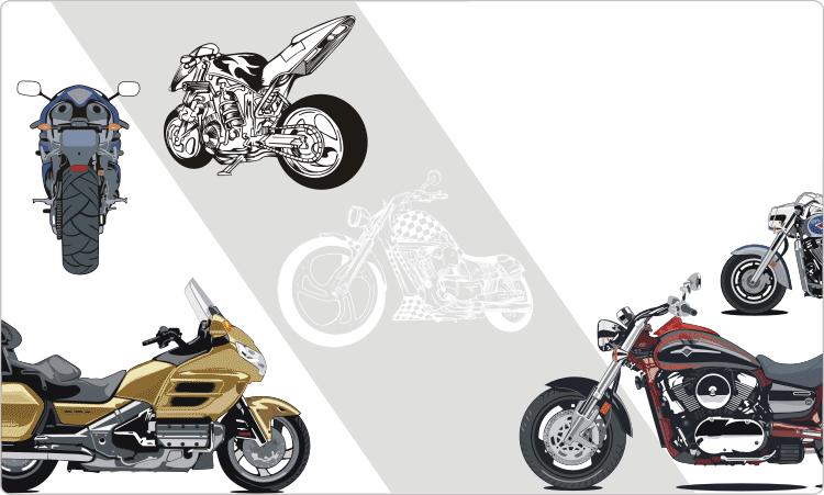 Motorräder Clipart