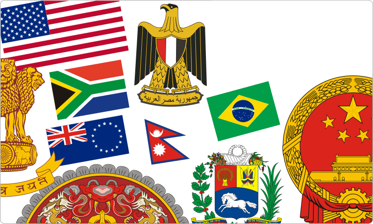 International Non-European Civic Heraldik