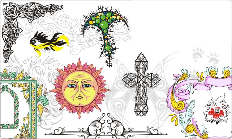 Dekorative Muster & Vignetten