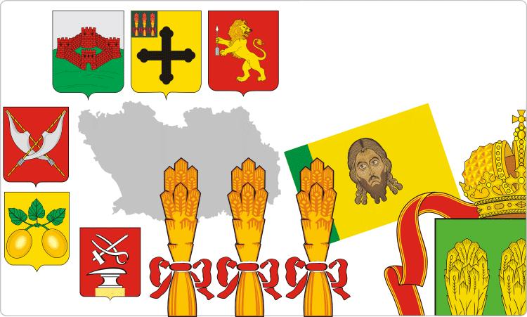 Russischen Regionen. Heraldik der Oblast Pensa