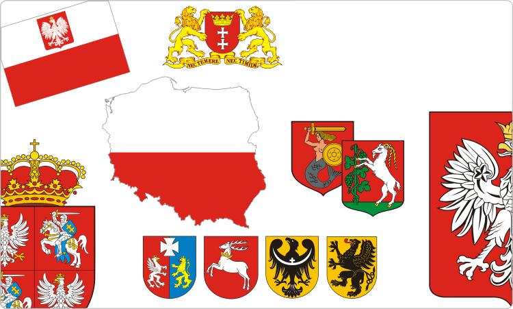 Heraldik Polen / Polnisch Flaggen & Wappen