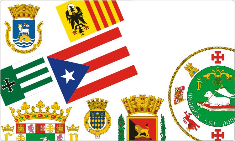 Puerto-ricanische Flaggen und Wappen / Heraldik von Puerto Rico