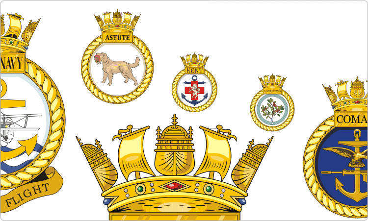 British Royal Navy Ship Wappen