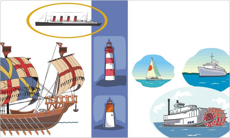 Schiffe und Boote Clipart