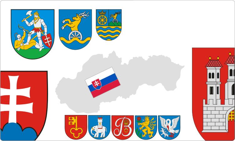 Heraldik der Slowakei / slowakische Flaggen und Wappen