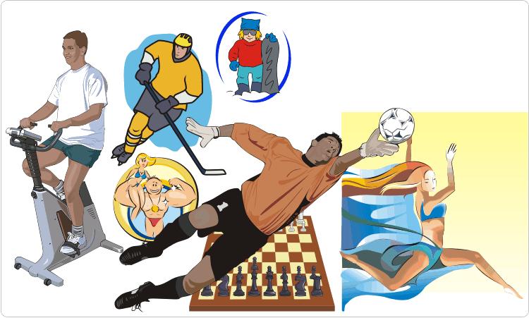 Sportausrüstung & Sportler Clipart