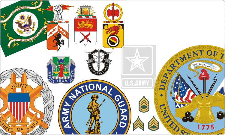 US-Armee-Insignien und Abzeichen