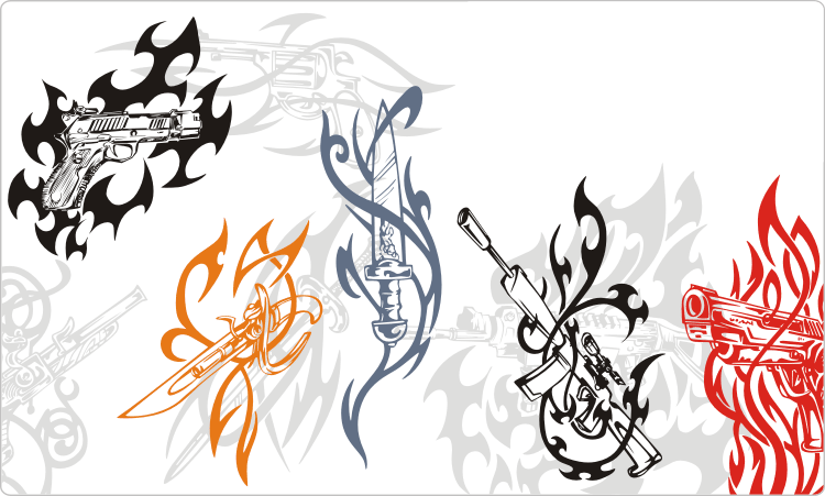 Tribal Tattoos Waffe