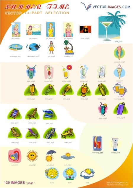 Sommerzeit Clipart Page 1